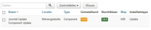 Joomla component update