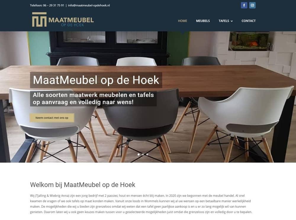 3 nieuwe websites - MaatMeubel op de Hoek